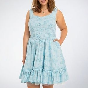 Torrid Alice Through the Looking Glass Blue Dress
